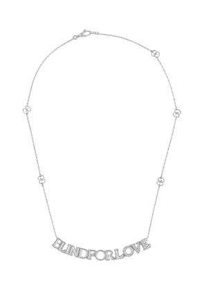 Gucci 18kt white gold Blind for Love diamond necklace - Silver