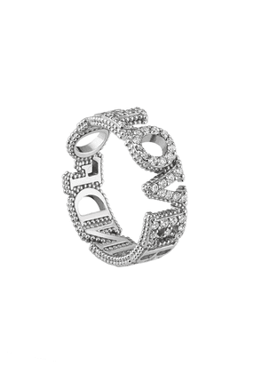 Gucci 18kt white gold Blind for Love diamond band - Silver