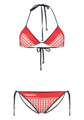Valentino Optical Valentino print bikini - Red