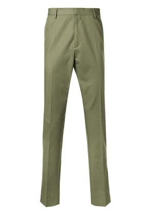 Valentino stripe detail tailored trousers - Green