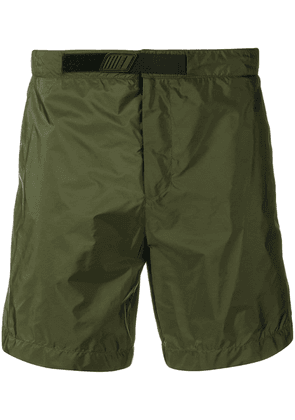 Prada logo patch swim shorts - Green