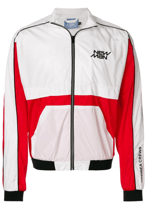 Andrea Crews colour block bomber jacket - White