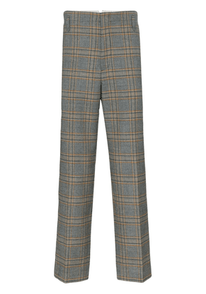 Gucci check print tailored wool trousers - Grey