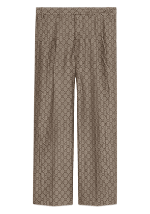 Gucci GG wool canvas formal pant - Neutrals