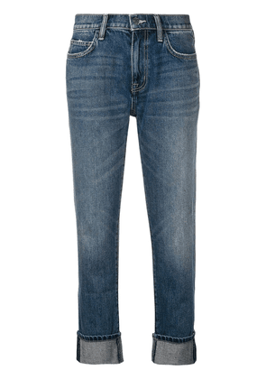 Current/Elliott faded cropped jeans - Blue
