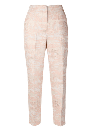 Blugirl embroidered fitted trousers - PINK