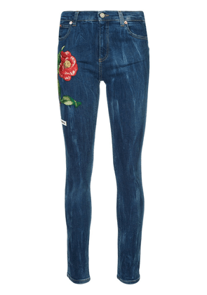 Gucci embroidered denim jeans - Blue