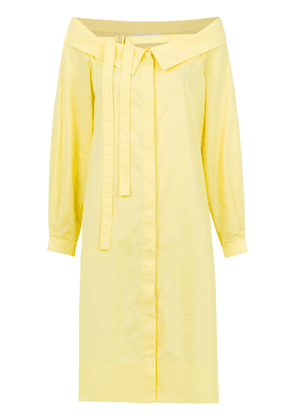 Gloria Coelho off the shoulder dress - Yellow