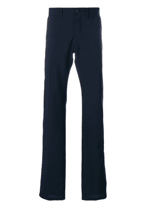 Armani Collezioni tailored fitted trousers - Blue