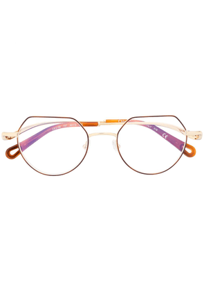 Chloé Eyewear Ayla logo glasses - GOLD