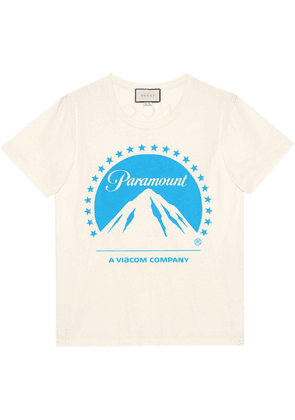 Gucci Oversize T-shirt with Paramount logo - White