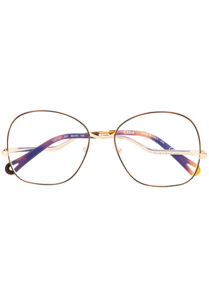 Chloé Eyewear thin round frame glasses - GOLD