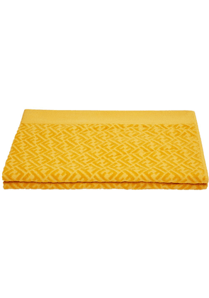 Fendi FF logo beach towel - Yellow