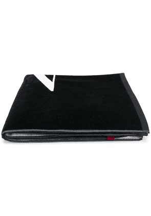 Valentino VLTN logo beach towel - Black
