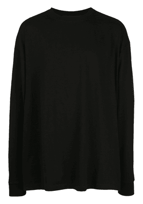 Unravel Project back print long-sleeve T-shirt - Black