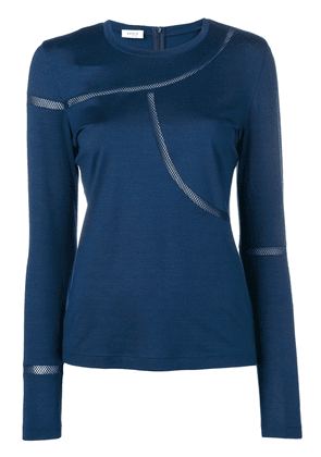 Akris Punto fitted T-shirt with net detailing - Blue