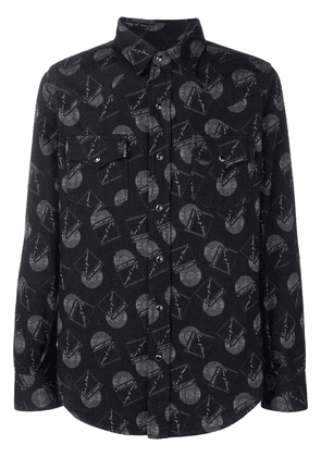 Saint Laurent vinyl record print shirt - Black