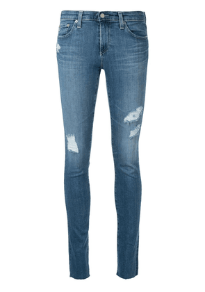 AG Jeans distressed skinny-fit jeans - Blue