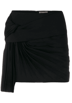 Saint Laurent pleat detail skirt - Black