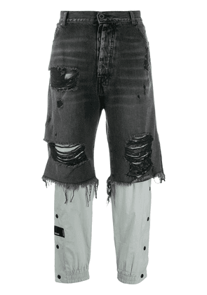 Unravel Project distressed jeans - Black