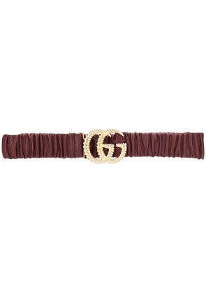 Gucci torchon double G buckle belt - Red
