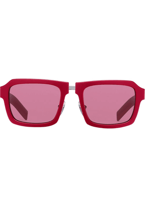 Prada Duple square-frame sunglasses - Red