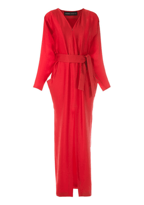 Gloria Coelho long belted dress - Red