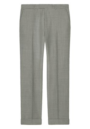Gucci Houndstooth wool pant - Grey