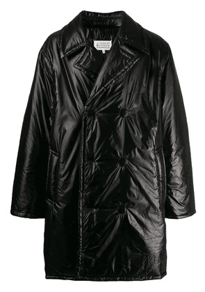 Maison Margiela padded double breasted coat - Black