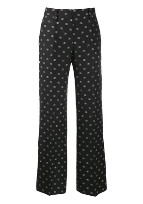 Valentino printed Vlogo straight trousers - Black