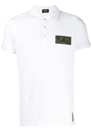 Fendi FF patch polo shirt - White