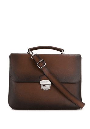 Orciani faded effect briefcase - Brown