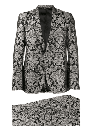 Dolce & Gabbana floral embroidered two-piece suit - Black