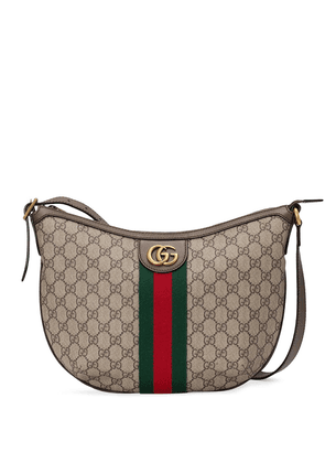 Gucci small Ophidia GG shoulder bag - Brown