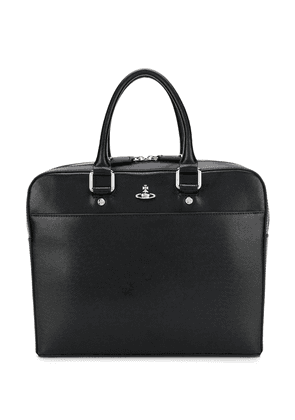 Vivienne Westwood Anglomania iconic orb logo briefcase - Black