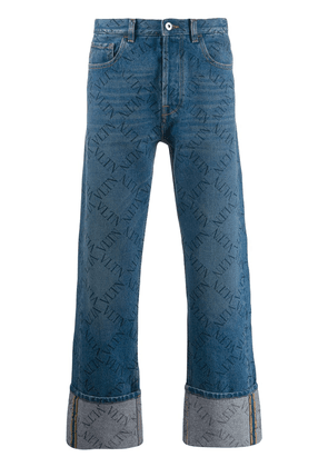 Valentino rolled-up hems VLTN jeans - Blue