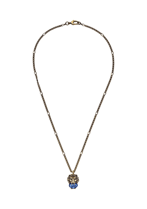 Gucci lion motif necklace - Gold