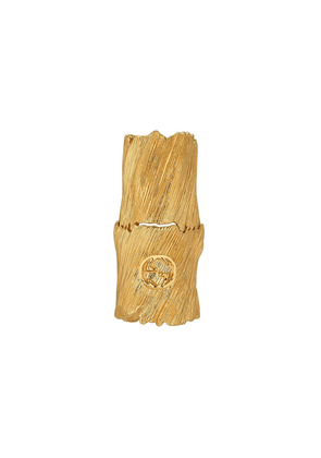 Gucci Textured metal finger ring with Interlocking G - Gold