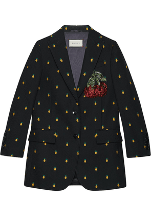 Gucci Pineapple fil coupé wool jacket - Black
