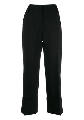 Valentino pleated cropped trousers - Black