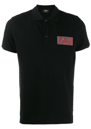 Fendi chest logo polo shirt - Black