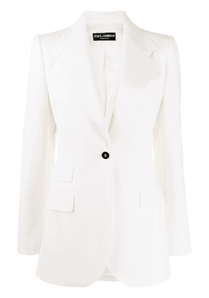 Dolce & Gabbana fitted single-button blazer - White