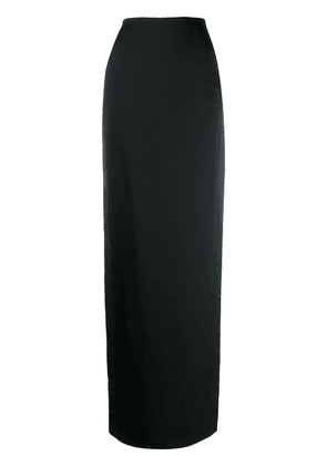 Saint Laurent long fitted straight skirt - Black