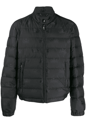 Dolce & Gabbana padded jacket with crown print - Black