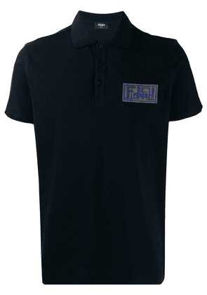 Fendi FF roma amor patch polo shirt - Blue