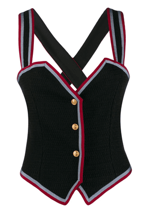 Gucci button up bustier top - Black