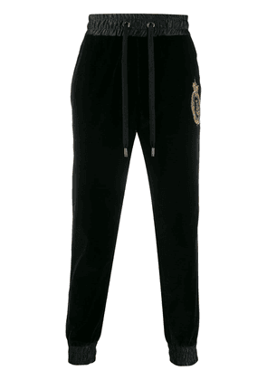 Dolce & Gabbana embroidered logo emblem track pants - Black