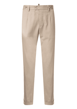 Dolce & Gabbana cropped chino trousers - Brown