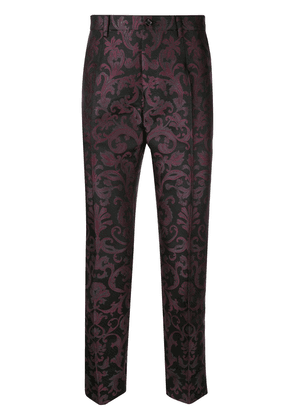 Dolce & Gabbana tailored jacquard trousers - Black