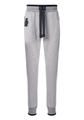 Dolce & Gabbana logo patch track pants - Grey